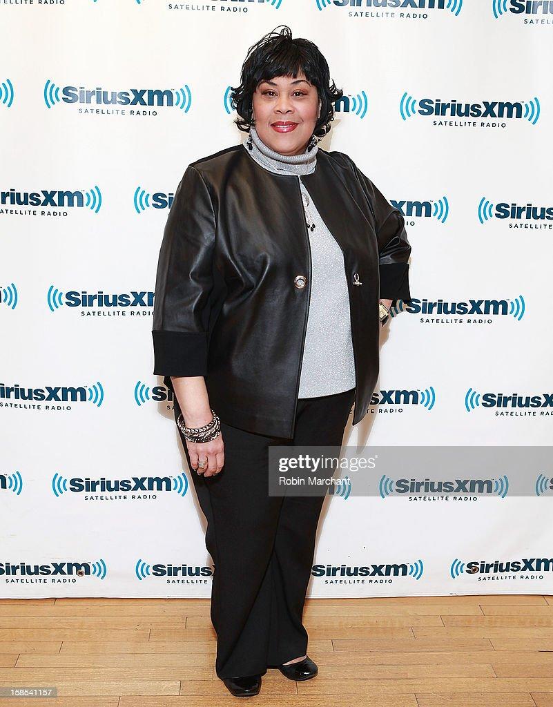 Martha Wash visits the SiriusXM Studios on December 18, 2012 in New York City.