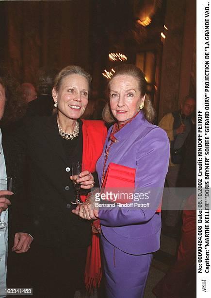 Marthe Keller 'Doris Bryner' 'Gerard Oury' film screening of 'La Grande Vadrouille' at the Garnier opera