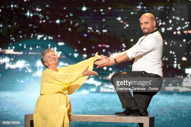 Marthe Villalonga and Jerome Commandeur during the Cesar Film Awards 2017 ceremony at Salle Pleyel on February 24 2017 in Paris France