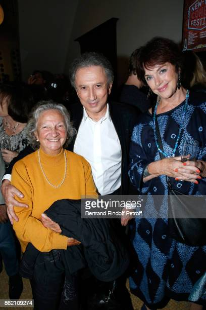 Marthe Villalonga Michel Drucker and Anny Duperey attend the One Woman Show by Christelle Chollet for the Inauguration of the Theatre de la Tour...