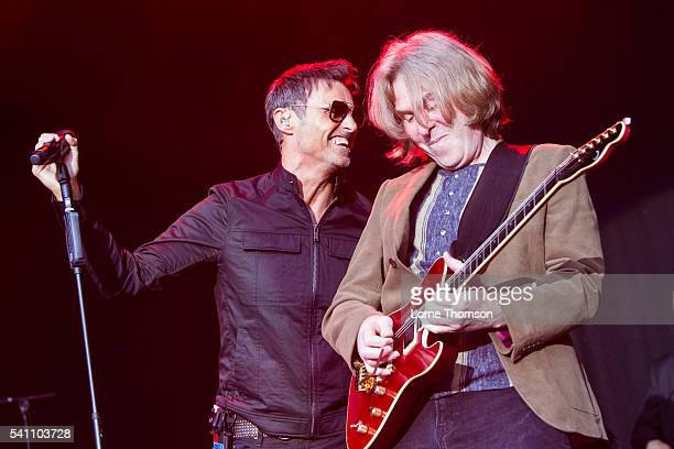 Marti Pellow and Graeme Duffin of Wet Wet Wet perform at Royal Hospital Chelsea on June 18 2016 in London England
