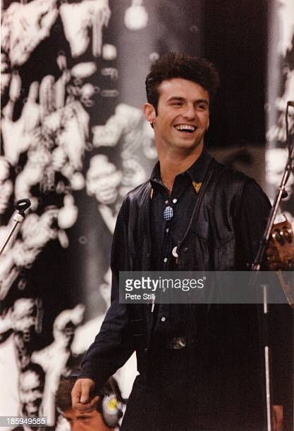 Marti Pellow of Wet Wet Wet performs on stage at the Nelson Mandela 70th Birthday Tribute concert at Wembley Stadium on June 11th 1988 in London...