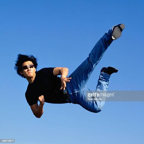 Martial Artist Midair