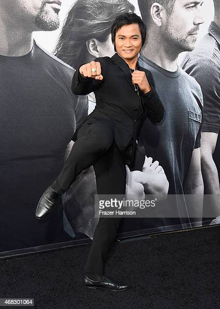Martial artist Tony Jaa attends Universal Pictures' 'Furious 7' premiere at TCL Chinese Theatre on April 1 2015 in Hollywood California