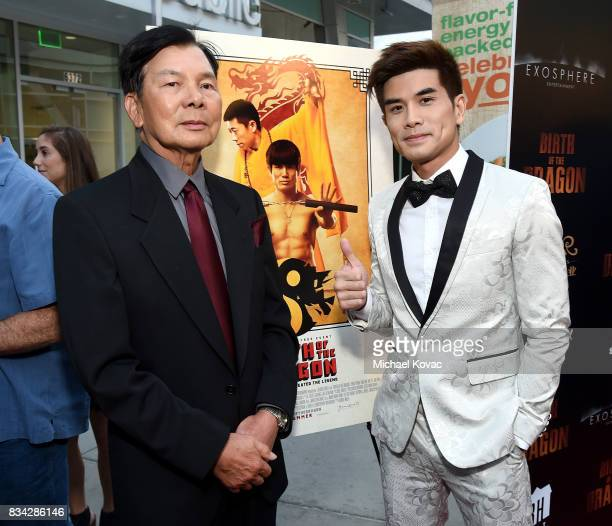 Martial artist Wong Jack Man and actor Philip Ng attend the Los Angeles Premiere of BIRTH OF THE DRAGON at ArcLight Cinemas on August 17 2017 in...