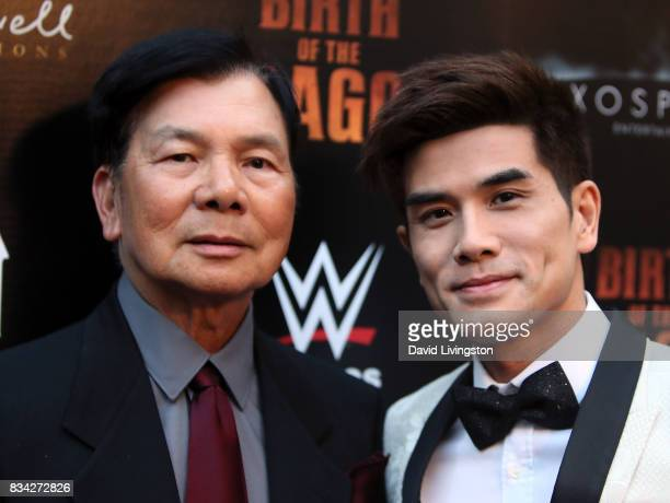 Martial artist Wong Jack Man and actor Philip Ng attend the premiere of WWE Studios' 'Birth of the Dragon' at ArcLight Hollywood on August 17 2017 in...