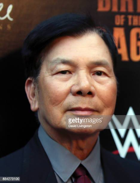 Martial artist Wong Jack Man attends the premiere of WWE Studios' 'Birth of the Dragon' at ArcLight Hollywood on August 17 2017 in Hollywood...