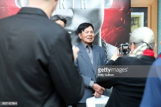 Martial artist Wong Jack Man poses for fan photos at a special screening of BH Tilt WWE Studios' 'Birth of the Dragon' at the AMC DineIn Kabuki 8...