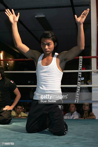 Martial arts action hero Tony Jaa promotes The Protector at Wat Gym on August 22 2006 in New York City