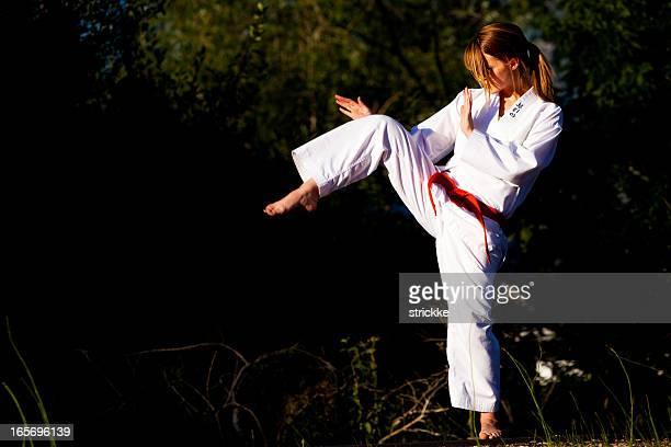 Arts martiaux Position dynamique
