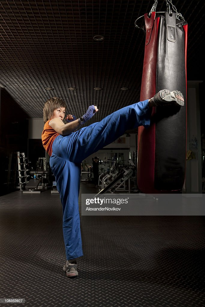 Martial Arts: Tae-bo. : Stock Photo