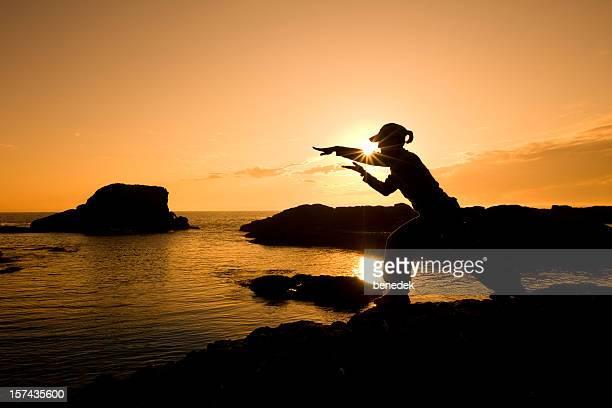 Martial Arts Woman Silhouette