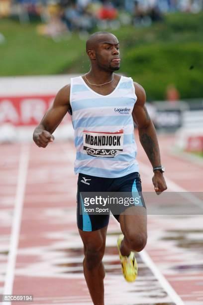 Martial MBANDJOCK 100M Championnats de France Athletisme Stade du Lac de Maine Angers