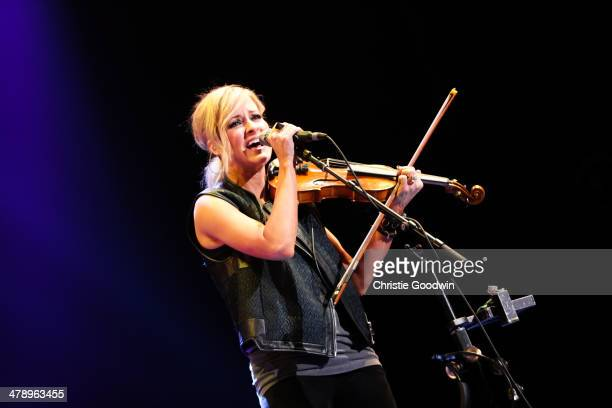 Martie Maguire of The Dixie Chicks performs on stage for C2C Music Festival at O2 Arena on March 15 2014 in London United Kingdom