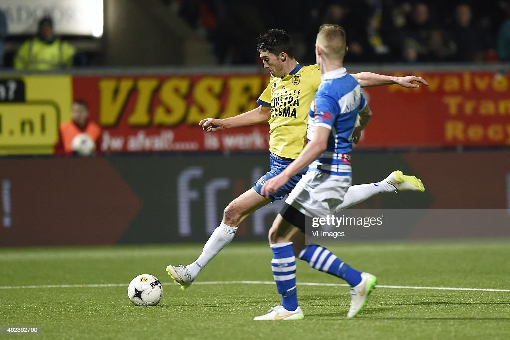 Martijn Barto Maikel van der Werff during the Dutch Cup match between SC Cambuur Leeuwarden and PEC Zwolle at the Cambuur Stadium on January 27 2015...