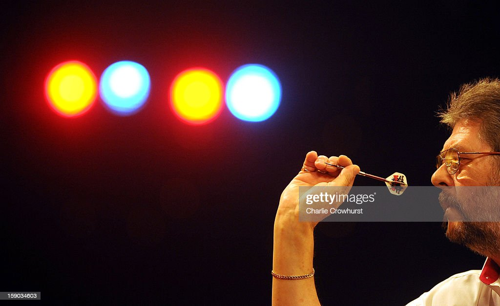 Martin Adams of England in action during his first round match against Jimmy Hendriks of The Netherlands on day two of the BDO Lakeside World Professional Darts Championships at Lakeside Country Club on January 06, 2013 in London, England.