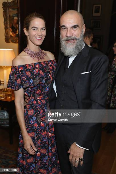 Martin and Giampiero Bodino attend Giampiero Bodino's 'Beauty Is My Favourite Colour' cocktails and dinner evening at Spencer House on October 11...
