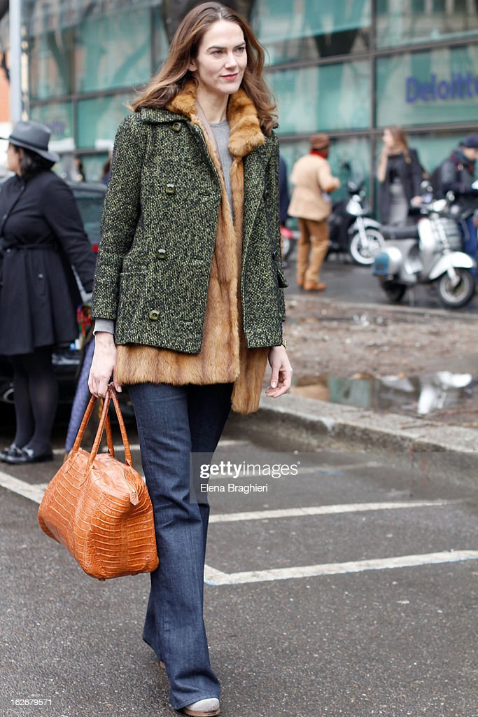 J. J. Martin attends the Milan Fashion Week Womenswear Fall/Winter 2013/14 on February 25, 2013 in Milan, Italy.