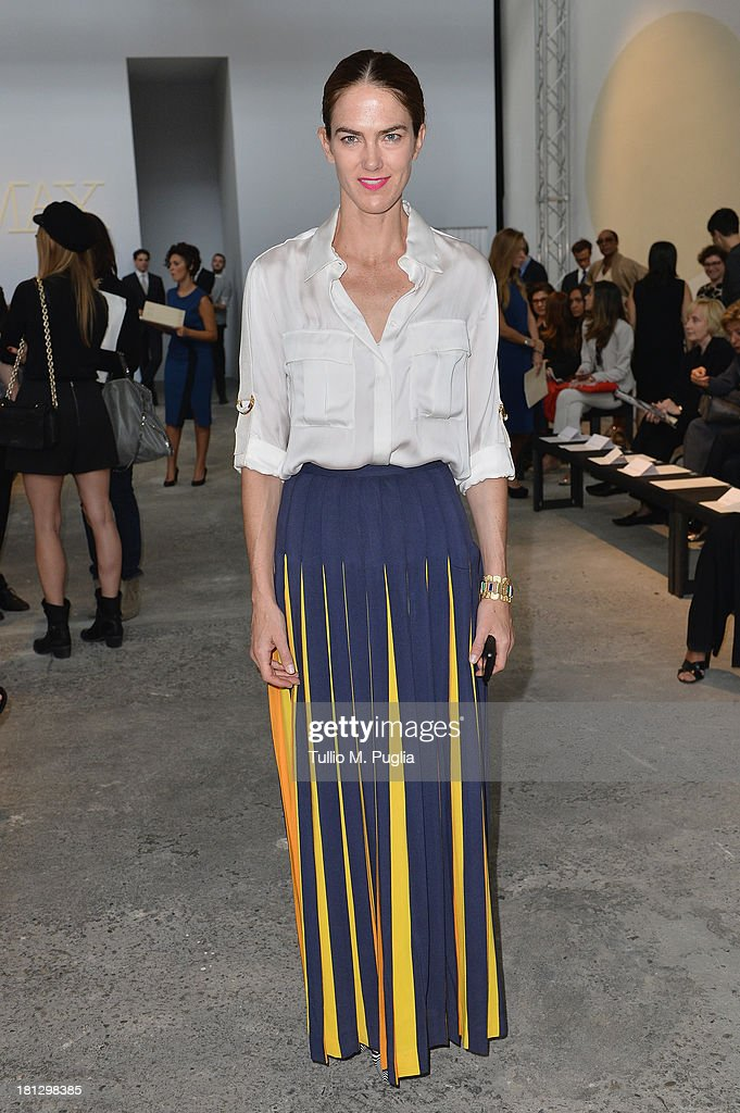 JJ Martin attends the Sportmax show as a part of Milan Fashion Week Womenswear Spring/Summer 2014 on September 20, 2013 in Milan, Italy.