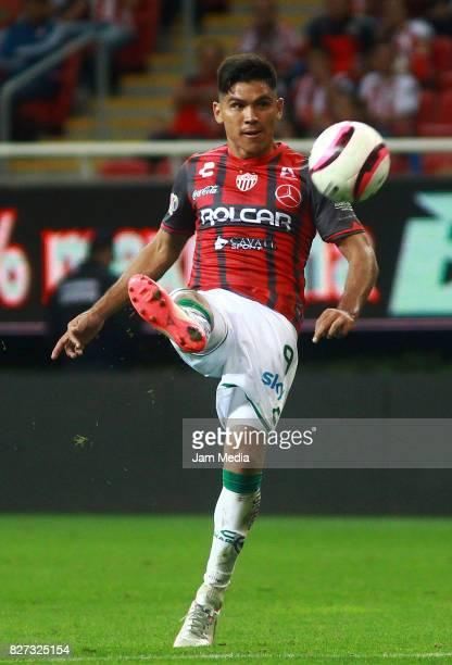 Martin Barragan of Necaxa kicks the ball during the third round match between Chivas and Necaxa as part of the Torneo Apertura 2017 Liga MX at Chivas...