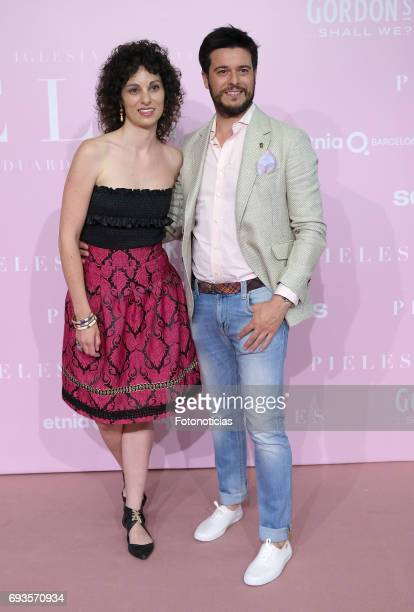 Martin Barredo and guest attends the 'Pieles' premiere pink carpet at Capitol cinema on June 7 2017 in Madrid Spain