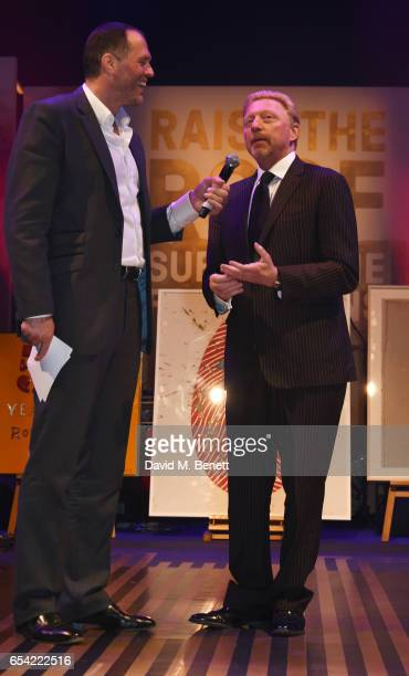 Martin Bayfield and Boris Becker attend the Roundhouse Gala at The Roundhouse on March 16 2017 in London England