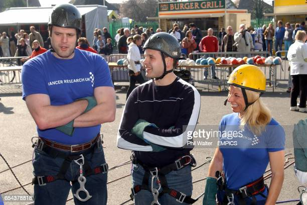 Martin Bayfield before his abseil