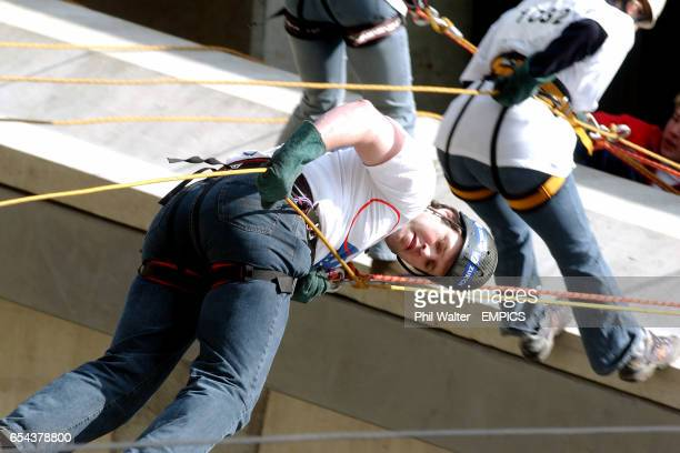 Martin Bayfield during his abseil