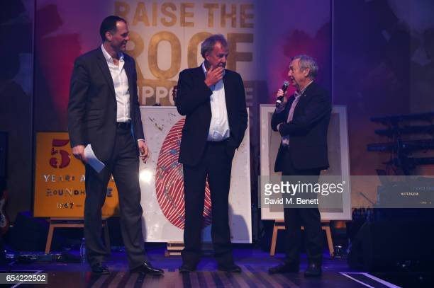 Martin Bayfield Jeremy Clarkson and Nick Mason speak at the Roundhouse Gala at The Roundhouse on March 16 2017 in London England