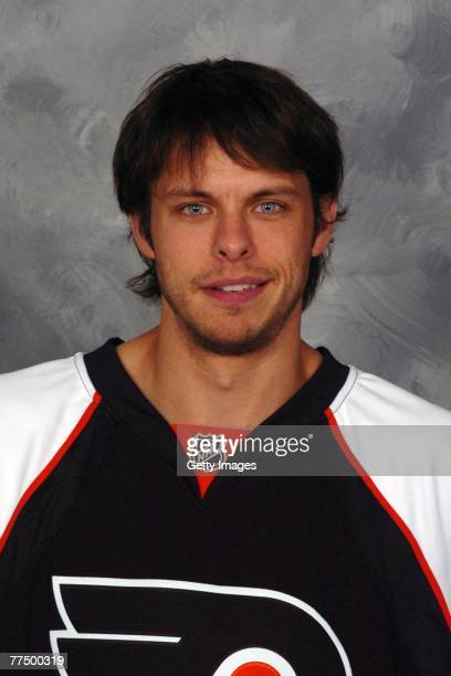 Martin Biron of the Philadelphia Flyers poses for his 2007 NHL headshot at photo day in Philadelphia Pennsylvania