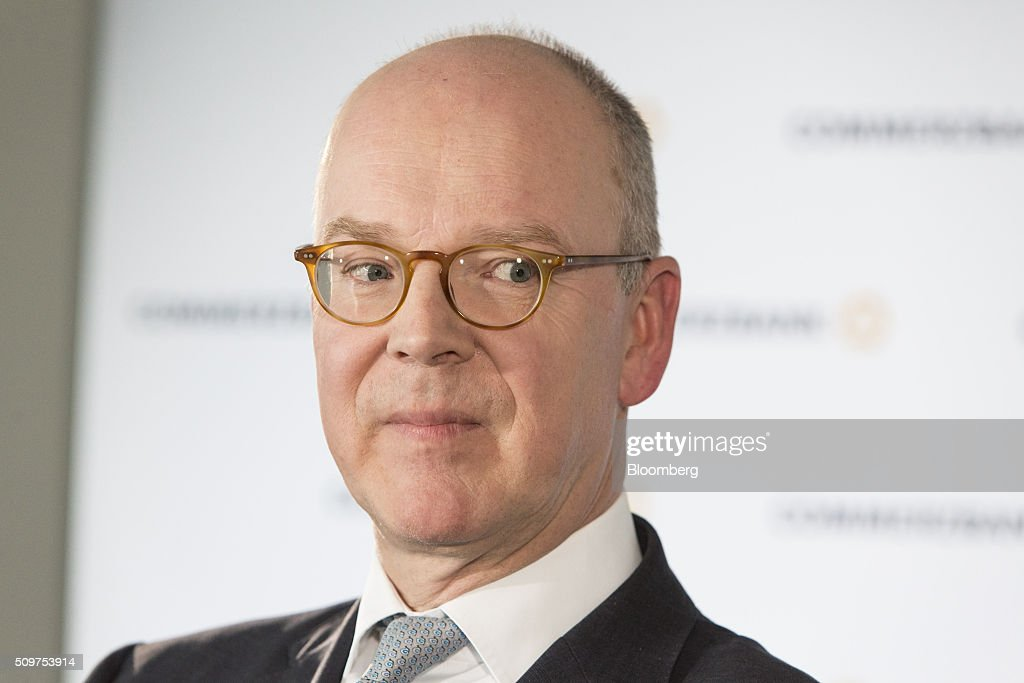 <a gi-track='captionPersonalityLinkClicked' href=/galleries/search?phrase=Martin+Blessing&family=editorial&specificpeople=4891922 ng-click='$event.stopPropagation()'>Martin Blessing</a>, chief executive officer of Commerzbank AG, looks on ahead of an interview as the bank announces its earnings in Frankfurt, Germany on Friday, Feb. 12, 2016. Commerzbank jumped the most in more than two years after fourth-quarter profit beat analyst estimates, as the lender said it plans to wind down its unit for soured loans at a faster pace than forecast. Photographer: Martin Leissl/Bloomberg via Getty Images