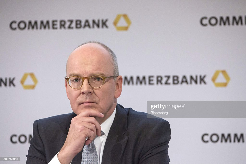 <a gi-track='captionPersonalityLinkClicked' href=/galleries/search?phrase=Martin+Blessing&family=editorial&specificpeople=4891922 ng-click='$event.stopPropagation()'>Martin Blessing</a>, chief executive officer of Commerzbank AG, pauses during a news conference to announce the bank's earnings in Frankfurt, Germany on Friday, Feb. 12, 2016. Commerzbank jumped the most in more than two years after fourth-quarter profit beat analyst estimates, as the lender said it plans to wind down its unit for soured loans at a faster pace than forecast. Photographer: Martin Leissl/Bloomberg via Getty Images
