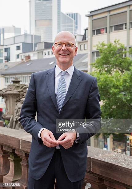 Martin Blessing chief executive officer of Commerzbank AG poses for a photograph at the IIF Europe Summit in Frankfurt Germany on Thursday June 25...