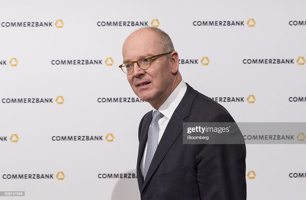 <a gi-track='captionPersonalityLinkClicked' href=/galleries/search?phrase=Martin+Blessing&family=editorial&specificpeople=4891922 ng-click='$event.stopPropagation()'>Martin Blessing</a>, chief executive officer of Commerzbank AG, poses for a photograph ahead of a news conference to announce the bank's earnings in Frankfurt, Germany on Friday, Feb. 12, 2016. Commerzbank jumped the most in more than two years after fourth-quarter profit beat analyst estimates, as the lender said it plans to wind down its unit for soured loans at a faster pace than forecast. Photographer: Martin Leissl/Bloomberg via Getty Images