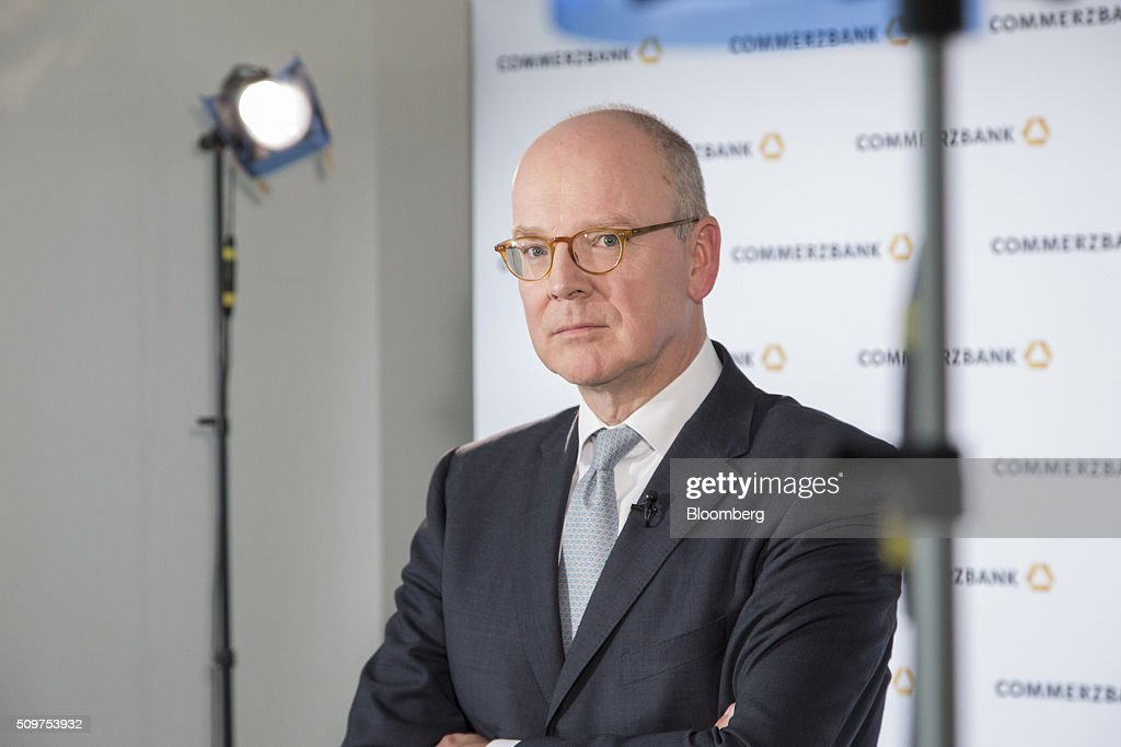 <a gi-track='captionPersonalityLinkClicked' href=/galleries/search?phrase=Martin+Blessing&family=editorial&specificpeople=4891922 ng-click='$event.stopPropagation()'>Martin Blessing</a>, chief executive officer of Commerzbank AG, poses for a photograph ahead of an interview as the bank announces its earnings in Frankfurt, Germany on Friday, Feb. 12, 2016. Commerzbank jumped the most in more than two years after fourth-quarter profit beat analyst estimates, as the lender said it plans to wind down its unit for soured loans at a faster pace than forecast. Photographer: Martin Leissl/Bloomberg via Getty Images
