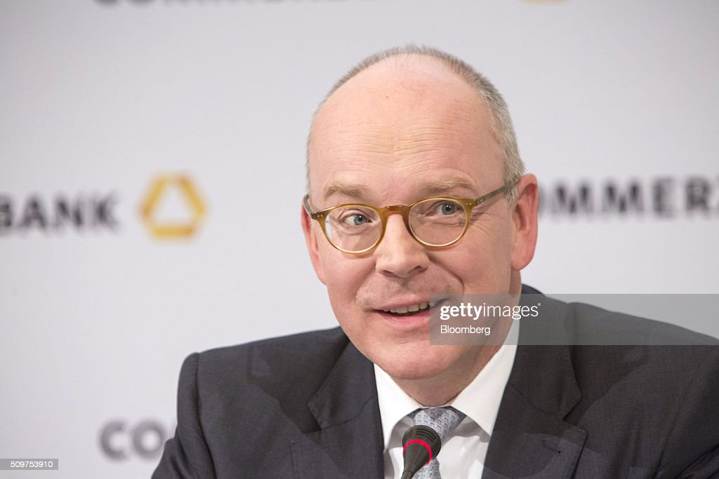 <a gi-track='captionPersonalityLinkClicked' href=/galleries/search?phrase=Martin+Blessing&family=editorial&specificpeople=4891922 ng-click='$event.stopPropagation()'>Martin Blessing</a>, chief executive officer of Commerzbank AG, speaks during a news conference to announce the bank's earnings in Frankfurt, Germany on Friday, Feb. 12, 2016. Commerzbank jumped the most in more than two years after fourth-quarter profit beat analyst estimates, as the lender said it plans to wind down its unit for soured loans at a faster pace than forecast. Photographer: Martin Leissl/Bloomberg via Getty Images