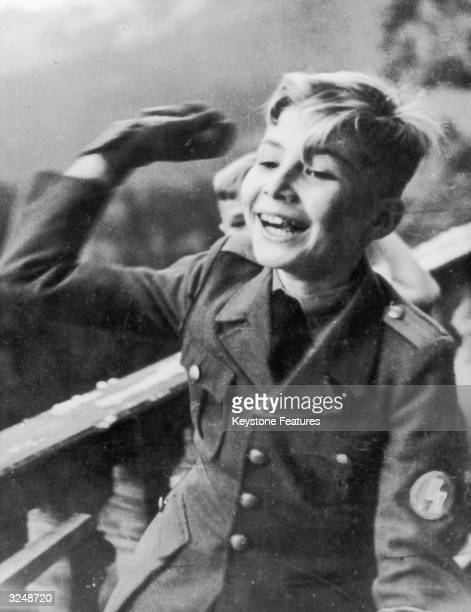 Martin Bormann Jnr the eldest son of Nazi leader Martin Bormann in uniform as a student at a national political education institution in Nazi Germany...