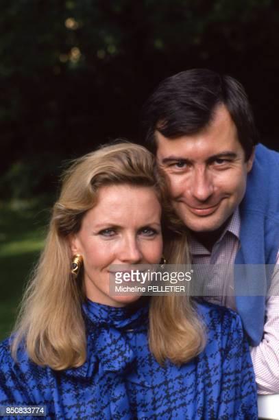 Martin Bouygues avec sa femme le 16 octobre 1988 France