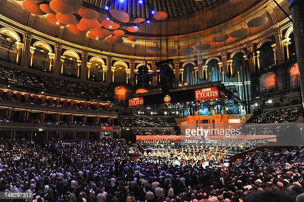 Martin Brabbins conducts the BBC Symphony Orchestra on stage during the opening night of the BBC Proms Summer Series at Royal Albert Hall on July 13...