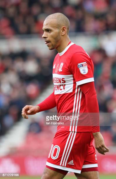 Martin Braithwaite of Middlesbrough during the Sky Bet Championship match between Middlesbrough and Sunderland at Riverside Stadium on November 5...