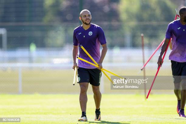 Martin Braithwaite of Toulouse during Press conference and training session of Toulouse on July 4 2017 in Toulouse France
