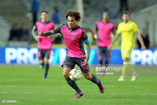 Martin Braithwaite of Toulouse during the Ligue 1 match between Fc Nantes and Toulouse Fc at Stade de la Beaujoire on November 5 2016 in Nantes France