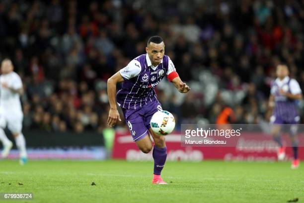 Martin Braithwaite of Toulouse during the Ligue 1 match between Toulouse FC and SM Caen at Stadium Municipal on May 6 2017 in Toulouse France