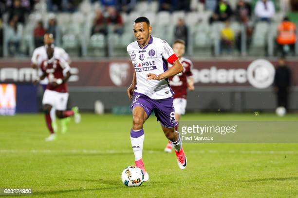 Martin Braithwaite of Toulouse during the Ligue 1 match between FC Metz and Toulouse FC at Stade SaintSymphorien on May 14 2017 in Metz France