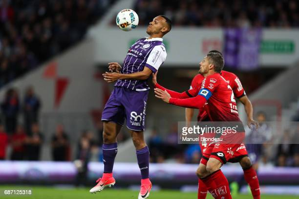 Martin Braithwaite of Toulouse during the Ligue 1 match between Toulouse FC and Dijon FCO at Stadium Municipal on May 20 2017 in Toulouse France