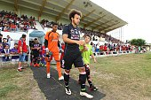 Martin Braithwaite of Toulouse during the Pre season friendly match between Toulouse Fc and Osasuna on July 22 2016 in Hendaye France
