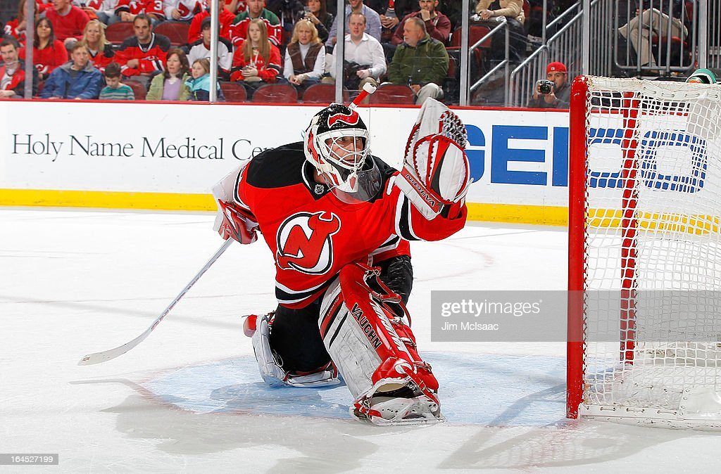 <a gi-track='captionPersonalityLinkClicked' href=/galleries/search?phrase=Martin+Brodeur&family=editorial&specificpeople=201594 ng-click='$event.stopPropagation()'>Martin Brodeur</a> #30 of the New Jersey Devils in action against the Florida Panthers at the Prudential Center on March 23, 2013 in Newark, New Jersey. The Devils defeated the Panthers 2-1.