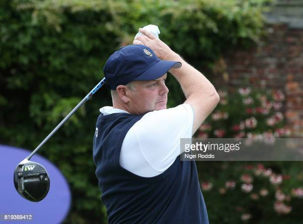 Martin Brown of Delamere Forest Gol Club during the Golfbreakscom PGA Fourball Championship North Qualifier at Woodsome Hall Golf Course on July 20...