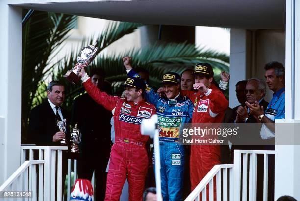 Martin Brundle Michael Schumacher Gerhard Berger Flavio Briatore Grand Prix of Monaco Monaco 15 May 1994 Two weeks after Ayrton Senna's death Gerhard...