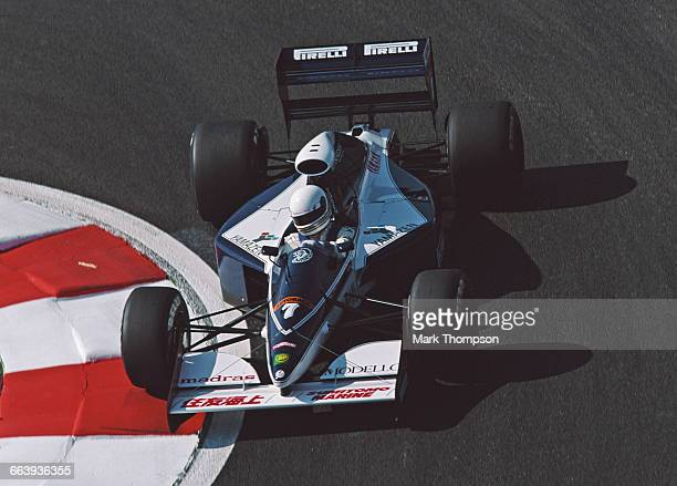 Martin Brundle of Great Britain drives the BrabhamYamaha BT60Y during practice for the French Grand Prix on 6 July 1991 at the Circuit de Nevers...